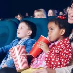 Kids with parents at a Sensory friendly movie