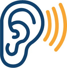 Icon of an ear.