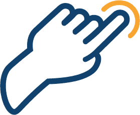 Icon of hand with finger pointing.