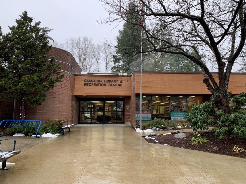Cameron Public Library Entrance