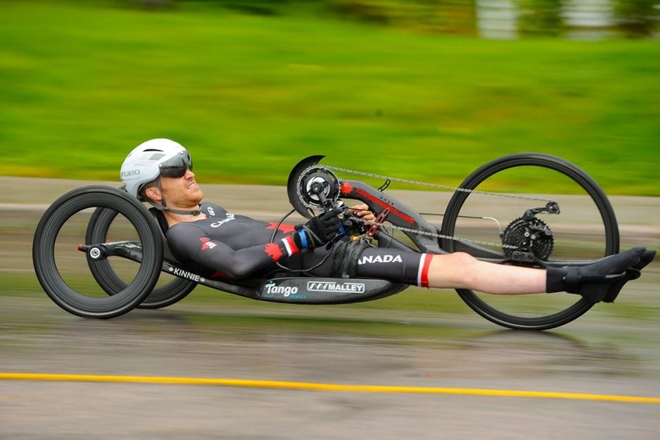 Matt Kinnie paracyclist